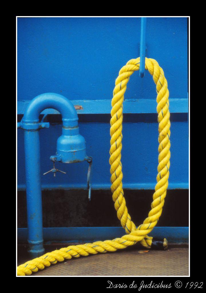 Line on blue